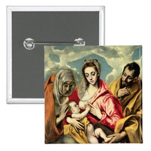 Virgen y niño con los SS. Anne y José Pin