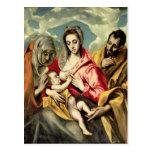 Virgen y niño con los SS. Anne y José Tarjetas Postales