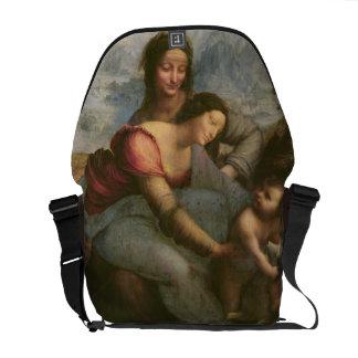 Virgen y niño con St Anne, c.1510 Bolsa De Mensajería