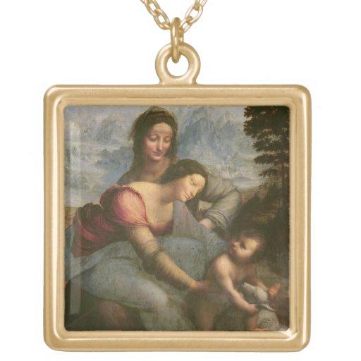 Virgen y niño con St Anne, c.1510 Pendientes Personalizados