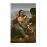 Virgen y niño con St Anne, c.1510 Postal