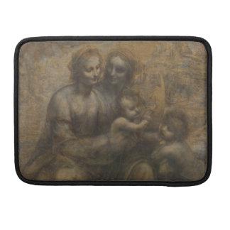 Virgen y niño con St Anne de Leonardo da Vinci Fundas Para Macbooks