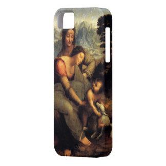 Virgen y niño con St Anne y el cordero iPhone 5 Carcasa