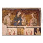 Virgen y niño con St Francis y St. John Tarjeta De Felicitación