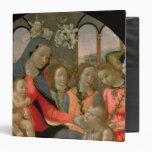 """Virgen y niño con St. John el Bautista Carpeta 1 1/2"""""""