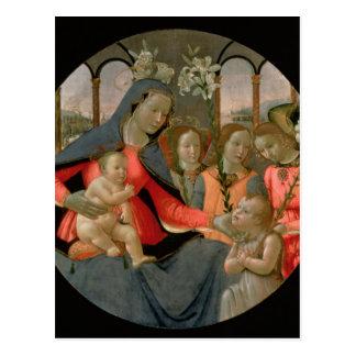 Virgen y niño con St John el Bautista Tarjeta Postal