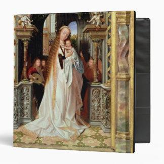 """Virgen y niño con tres ángeles, el panel central carpeta 1 1/2"""""""