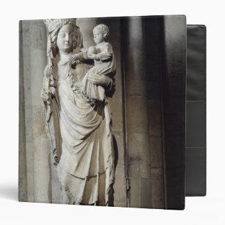 """Virgen y niño, conocidos como Notre-Dame de Paris Carpeta 1 1/2"""""""