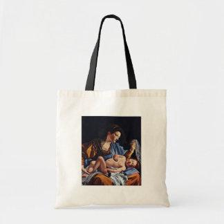 Virgen y niño de Gentileschi Orazio Bolsas De Mano