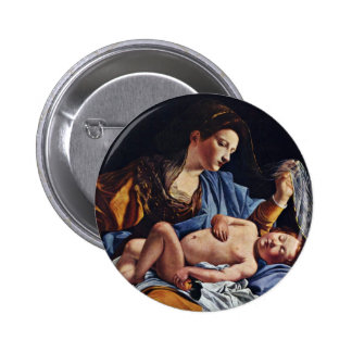 Virgen y niño de Gentileschi Orazio Pins
