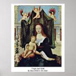 Virgen y niño de Hans Holbein la anciano Poster