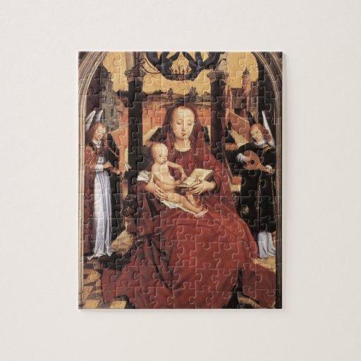 Virgen y niño de Hans Memling- Enthroned Puzzles