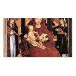 Virgen y niño de Hans Memling- Enthroned Tarjetas De Visita