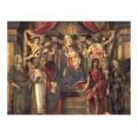 Virgen y niño de Sandro Botticelli- con los santos Tarjetas Postales