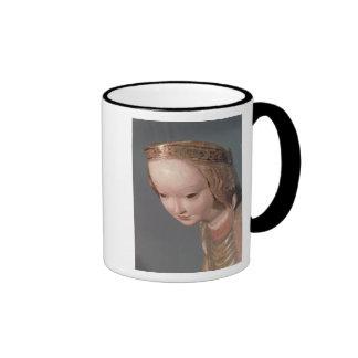 Virgen y niño, detalle del jefe del taza de dos colores