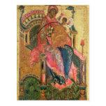 Virgen y niño, escuela de Moscú Tarjetas Postales