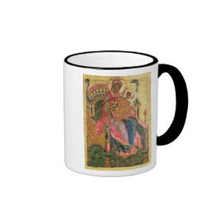 Virgen y niño, escuela de Moscú Tazas De Café