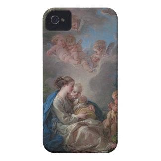 Virgen y niño - François Boucher iPhone 4 Protectores