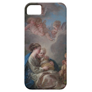 Virgen y niño - François Boucher iPhone 5 Carcasas