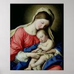 Virgen y niño impresiones