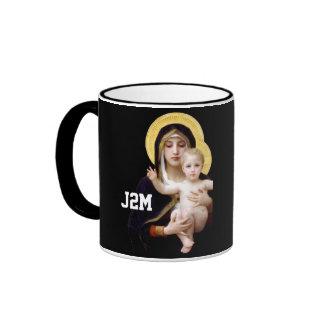 virgen y niño J2M Moyer 09 Taza A Dos Colores