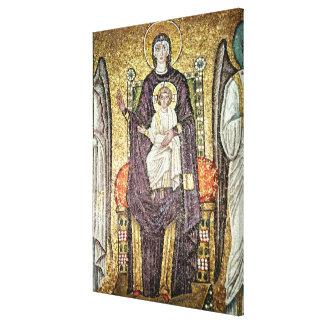 Virgen y niño lienzo envuelto para galerias
