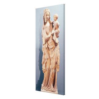 Virgen y niño lona envuelta para galerias