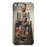 Virgen y niño, (madera policroma) funda de iPhone 6 barely there