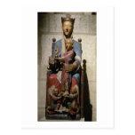 Virgen y niño, (madera policroma) tarjetas postales