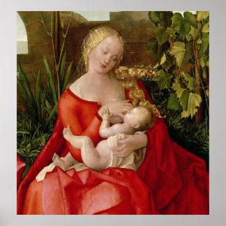 Virgen y niño Madonna con el iris 1508 Posters