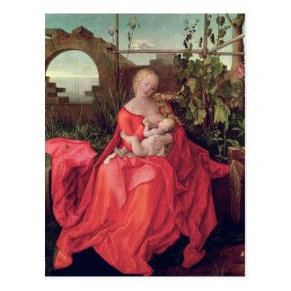 Virgen y niño Madonna con el iris 1508 Tarjetas Postales