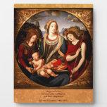 Virgen y niño placas de plastico