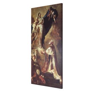 Virgen y niño que aparecen a St Philip Neri, 172 Impresión En Lienzo Estirada