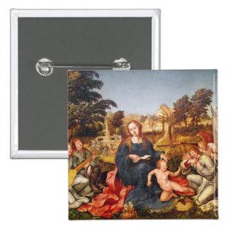 Virgen y niño y ángeles, 1536-38 pins