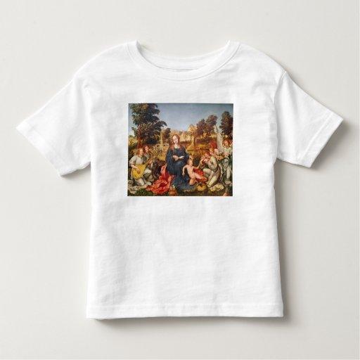 Virgen y niño y ángeles, 1536-38 poleras