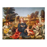 Virgen y niño y ángeles, 1536-38 postales