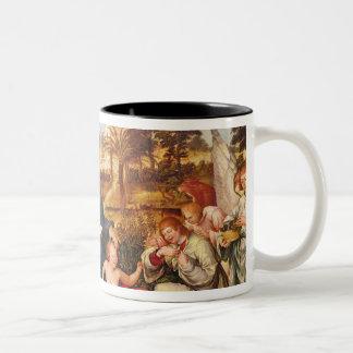 Virgen y niño y ángeles, 1536-38 taza de dos tonos