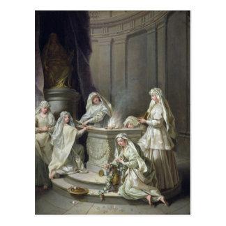 Vírgenes de vestal, 1727 postal