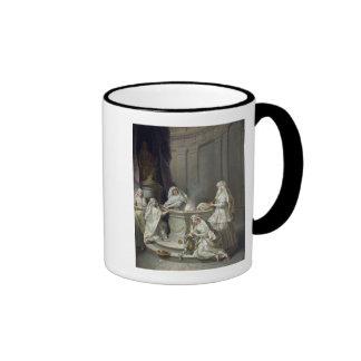 Vírgenes de vestal, 1727 taza de dos colores
