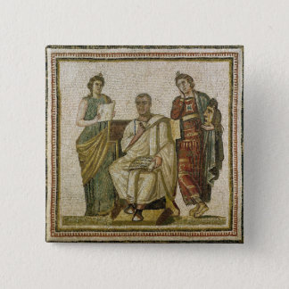Virgil  and the Muses, from Sousse Pinback Button
