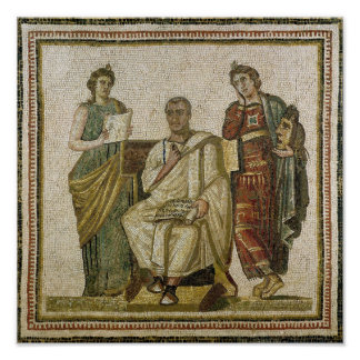 Virgil  and the Muses, from Sousse Poster