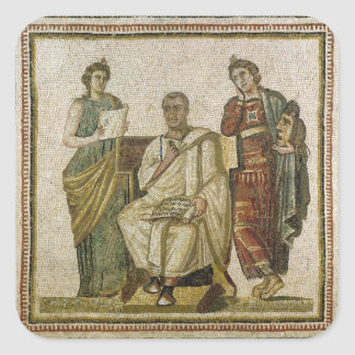 Virgil  and the Muses, from Sousse Square Sticker