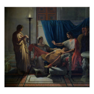Virgil que lee el Aeneid Póster