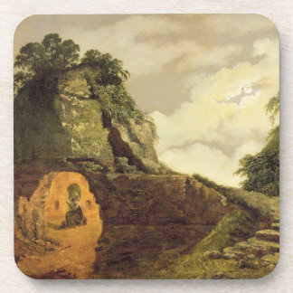 Virgil s Tomb by Moonlight with Silius Italicus 1 Beverage Coaster
