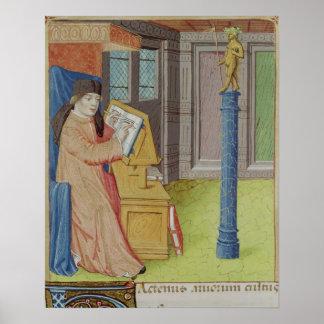 Virgil writing before Artemis Poster
