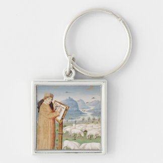 Virgil Writing in a Field of Sheep and Goats Keychain