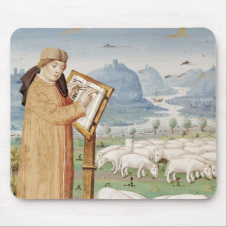 Virgil Writing in a Field of Sheep and Goats Mouse Pad