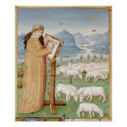 Virgil Writing in a Field of Sheep and Goats Poster