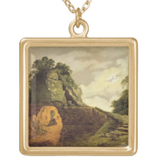 Virgil's Tomb by Moonlight with Silius Italicus, 1 Gold Plated Necklace