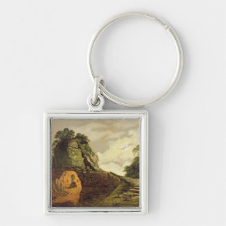 Virgil's Tomb by Moonlight with Silius Italicus, 1 Keychain